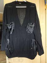 продам жіночу шифонову блузку з накладними атласними кишенями. 52 ро