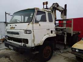 Nissan truck with crane  CW 45 pd6 engine good working order