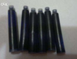 Чернильный патрон (картридж) для чернильной (перьевой) ручки. синий