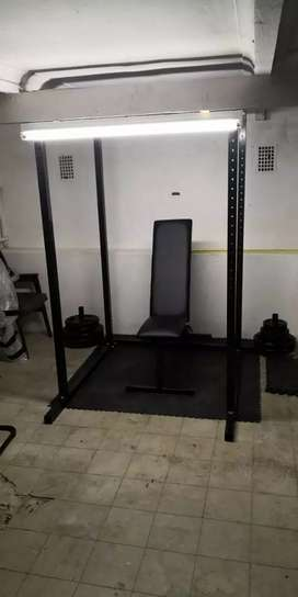 Heavy duty power rack and adjustable incline and decline BENCH set