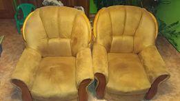 Fotele brąz stan bardzo dobry tkanina Gobi