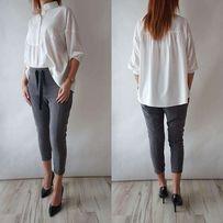 Elegancka bluzka biała luźna by mielczarkowski rozmiar s 36