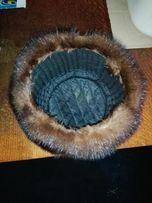 Норковая шапка цельнокроенная