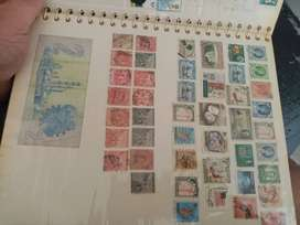 Stamp and flags