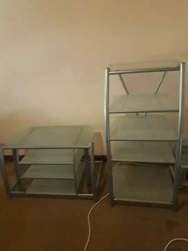 Tv stand and stage stand both
