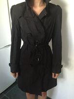 Черный плащ пальто новый