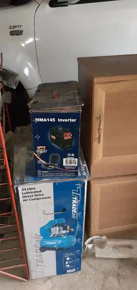 MMA145 INVERTER and24 litre air compressor