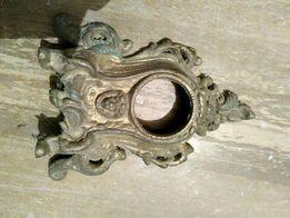 Oprawa zegara mosiądz odlewana antyk piękna zegar kominek komoda