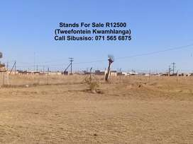 Stands For Sale R12 500  (Tweefontein Kwamhlanga) (25m X 25m)