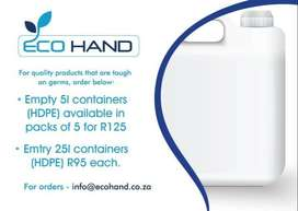 Eco Hand HDPE Containers