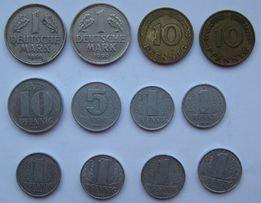 Лот из 12 монет ФРГ и монета 3-го Рейха