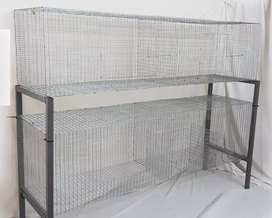 Four Compartment Rabbit Cage