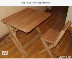 Парта деревянная