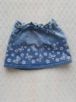 Джинсовая юбка юбочка 6-12 мес.