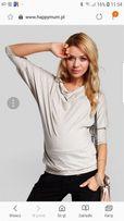 Happymum S happy mum ciazowa ciążowa cienka nietoperz bluzka różowa 36