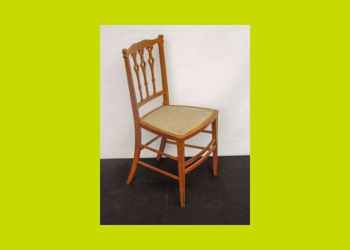 Edwardian Fruitwood Bedroom Chair - SKU 1048
