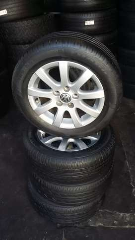 4 × 14 Inch polo vivo mags and tyres for sale