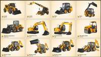 Image of Dump truck forklift machinery training operator mobile crane excavator