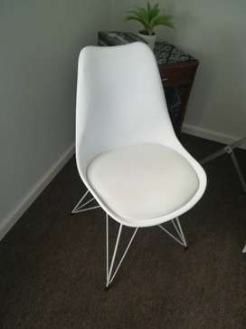 White Chair can be used as a desk chair