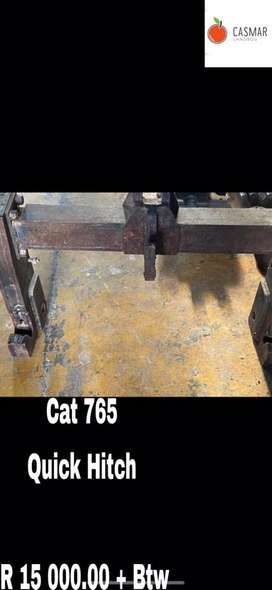 Cat 765 quick hitch