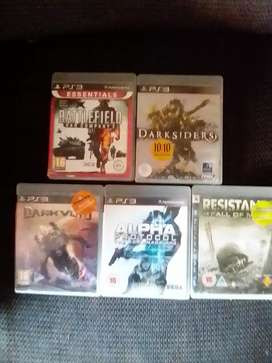 Selling 5 PS3 games R300
