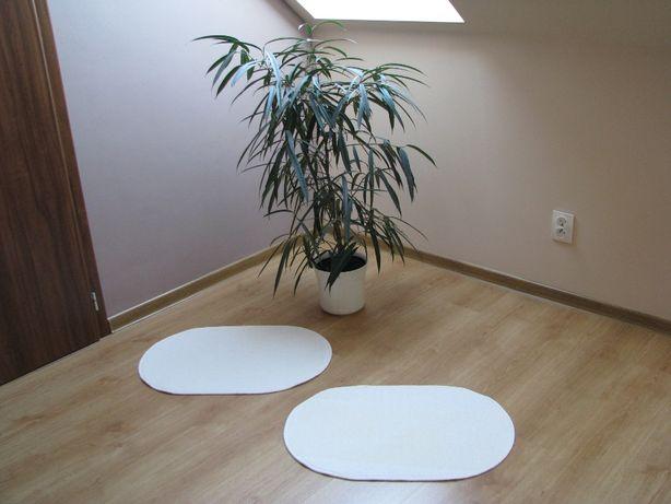 Białe, owalne dywaniki, chodniczki antypoślizgowe 65x44 cm Krapkowice - image 1