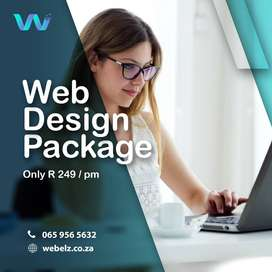 Website Design for only R 249/pm