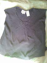 Блузка-футболка в горошек