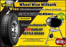 Stand a chance to WIN a Dunlop Kettle Braai!