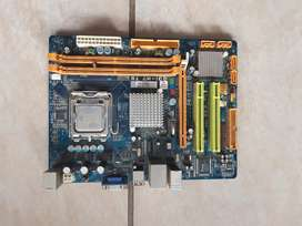 Motherboard with cpu and power supply
