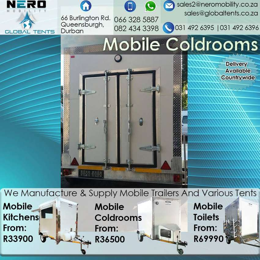 Mobile Coldrooms - Mobile Kitchens - Mobile Freezer - Mobile Toilet 0