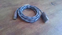 Прочный micro USB кабель в тканевой оплетке длиной 1 метр