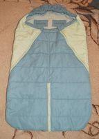 Спальный мешок, конверт трансформер, чехол на ножки в коляску