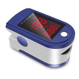 Oximeter Red Colour Screen Oxymeter Fingertip Oxygen and Pulse Rate Sc