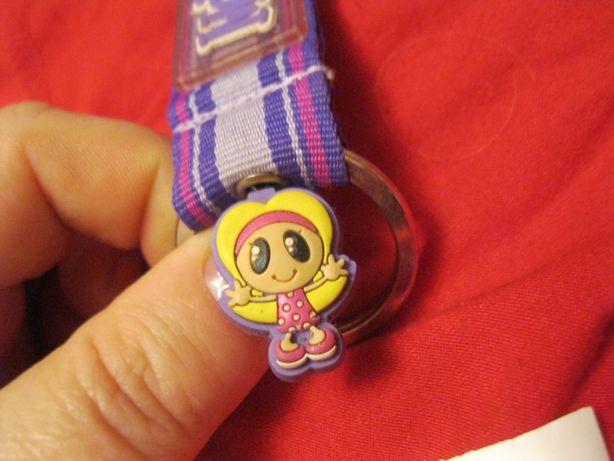 детский брелок девочка мелисса MELISSA на карабине фиолетовый на сумку