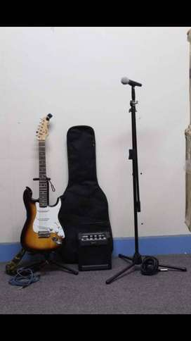 Guitar, Microphone and Amp bundle
