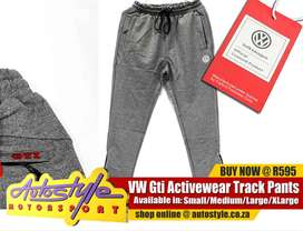 VW Official licensed track pants , active wear etc GTI and VW