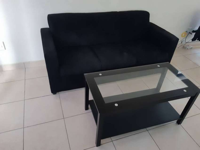 Glass Coffee Table and 3 seater couch 0