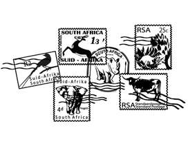 South African Stamps vinyl wall art
