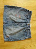 cross jeans spódnica s wysoki stan dziury przetarcia