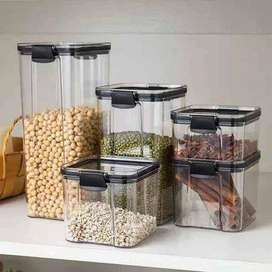 Set of 4 Acrylic Transparent Storage Containers