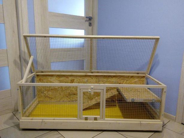 Klatka drewniana zagroda dla królika świnki morskiej. Myszków - image 4