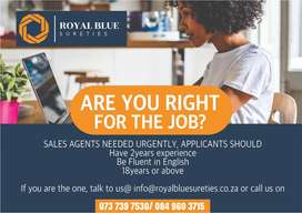Credit Sales Agents Needed Urgently!!!
