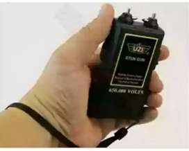 Stun protection device for security. Fits in palm of hand
