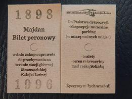 Bilet peronowy - bieszczadzka kolej wąskotorowa Majdan