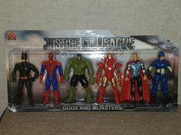 Набор Супергероев: Халк,Тор,Спайдер,Бетмен,Капитан Ам.,Железный чел-к.