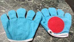 Перчатки на липучках, для игры с мячиком