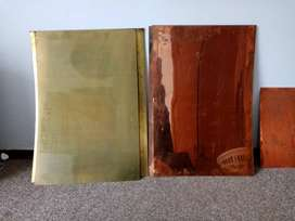 60cm by 90cm copper sheets (Yellow & red)