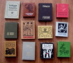 Książki- miniaturki : 12 sztuk