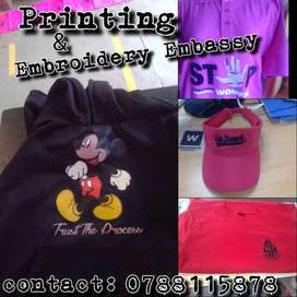 Scree printing & embroidery services